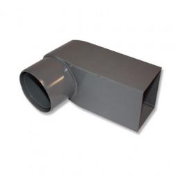 Tube d'écoulement PVC  60x100 mm, tube 80-100 mm